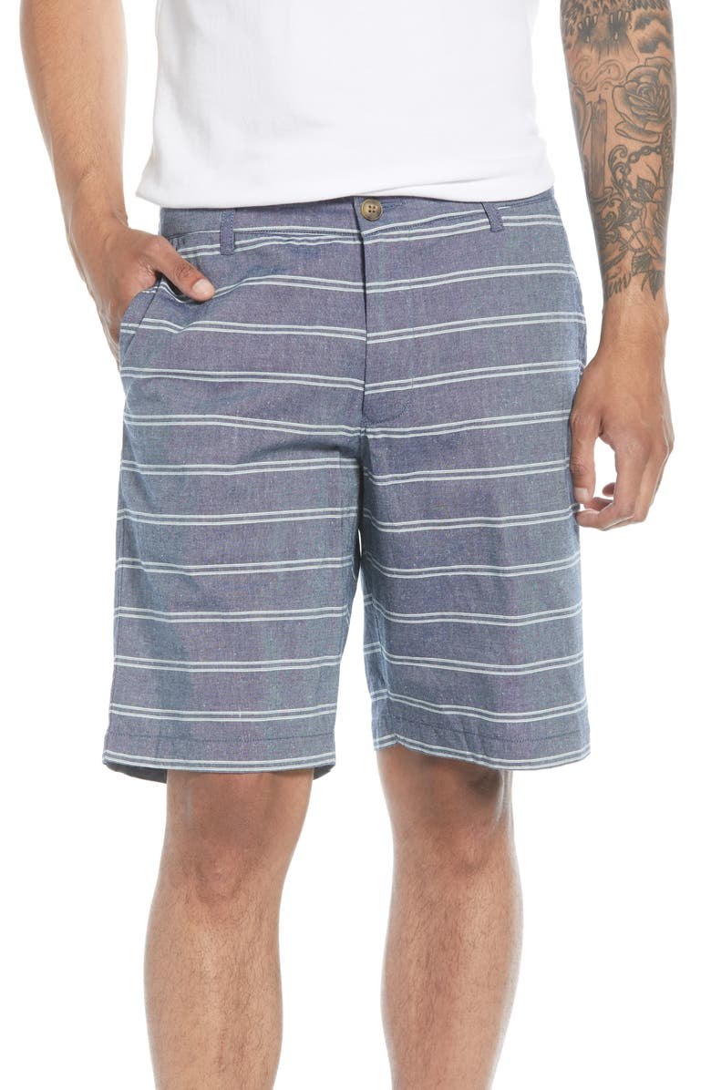 BONOBOS 9-Inch Stripe Chino Shorts, Main, color, OAXACA STRIPE WORN COBALT