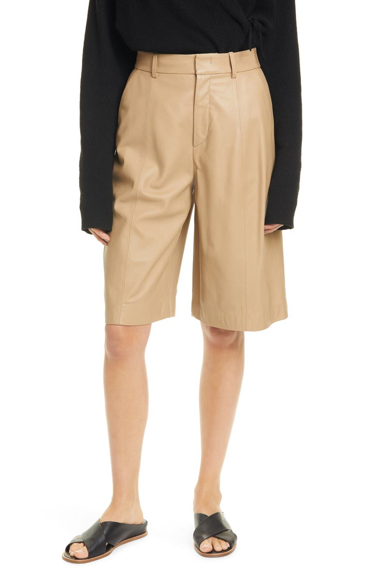 VINCE Leather Walking Shorts, Main, color, 250