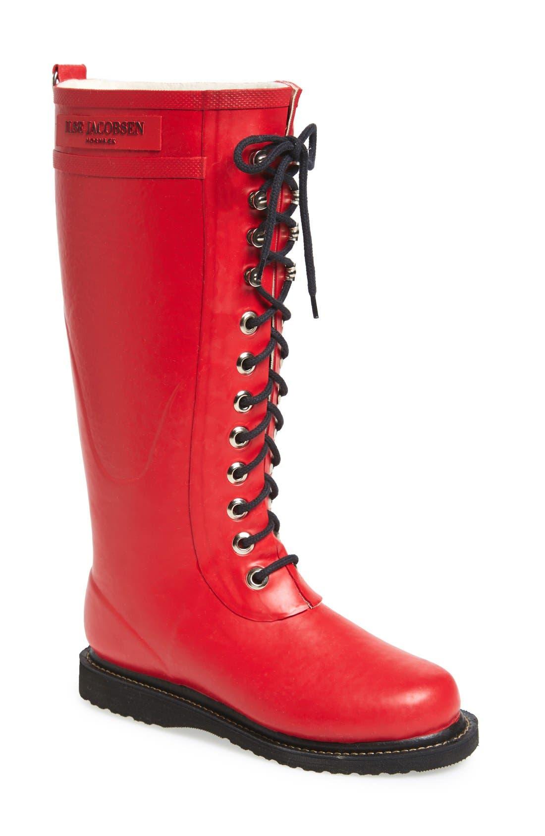 Ilse Jacobsen Rubber Boot - Red
