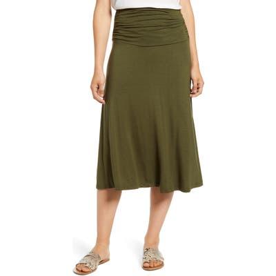 Bobeau Andie Convertible Knit Skirt, Green