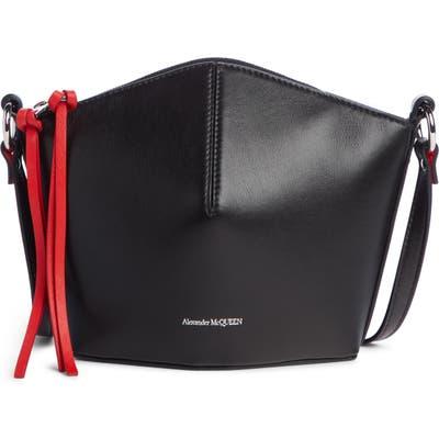 Alexander Mcqueen Mini Leather Bucket Bag - Black