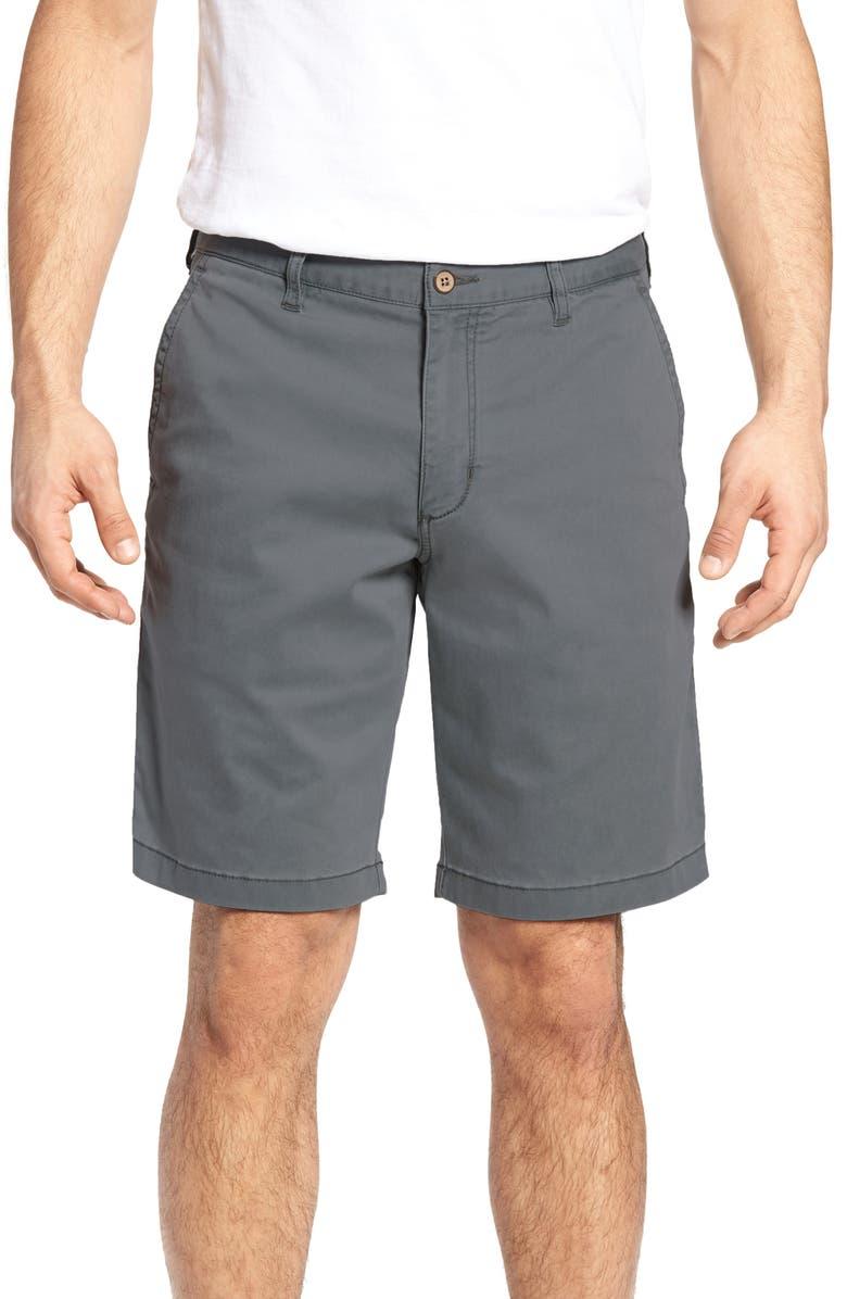 TOMMY BAHAMA Boracay Chino Shorts, Main, color, FOG GREY