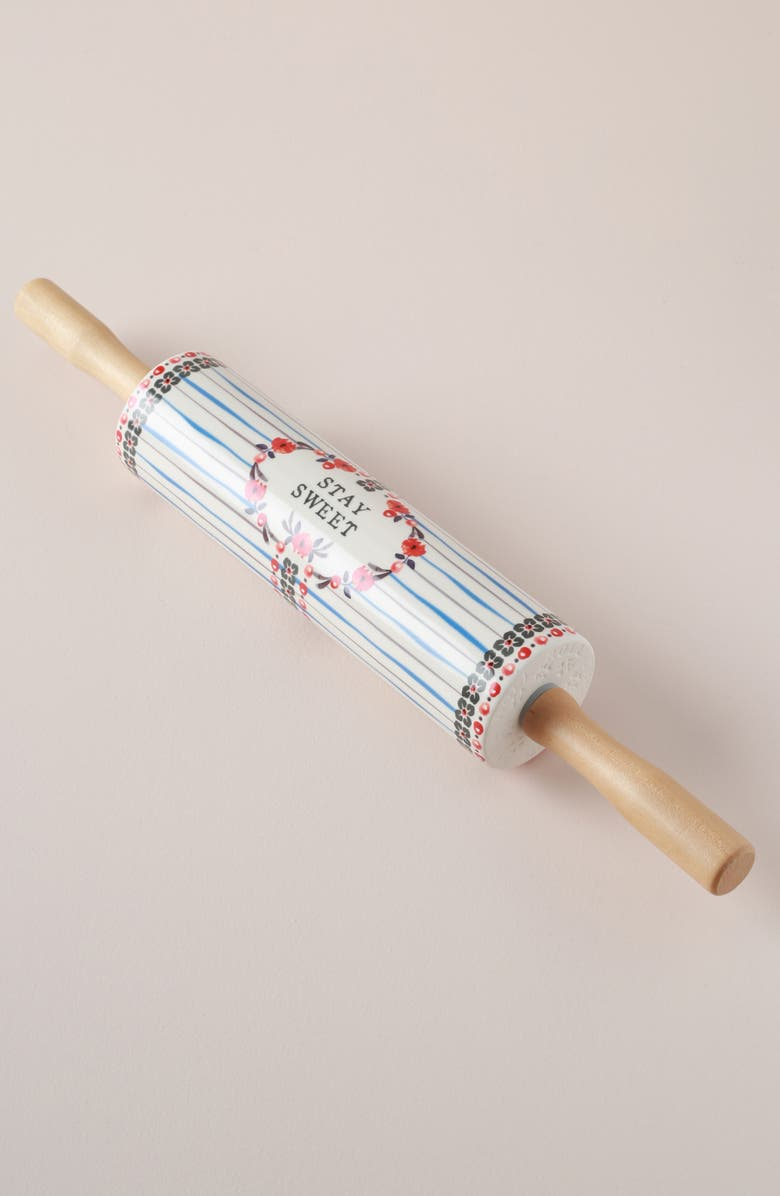 ANTHROPOLOGIE Daily Bakeware Rolling Pin, Main, color, WHITE