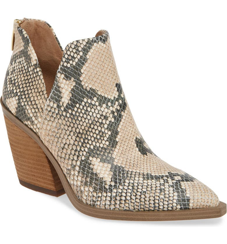 VINCE CAMUTO Gigietta Bootie, Main, color, NATURAL EMBOSSED LEATHER