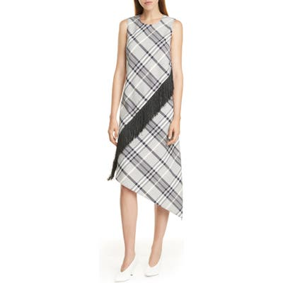 Hugo Kitoni Asymmetrical Plaid Dress, Blue