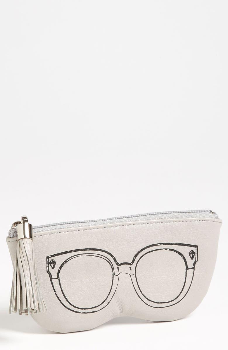 REBECCA MINKOFF Leather Sunglasses Case, Main, color, 020