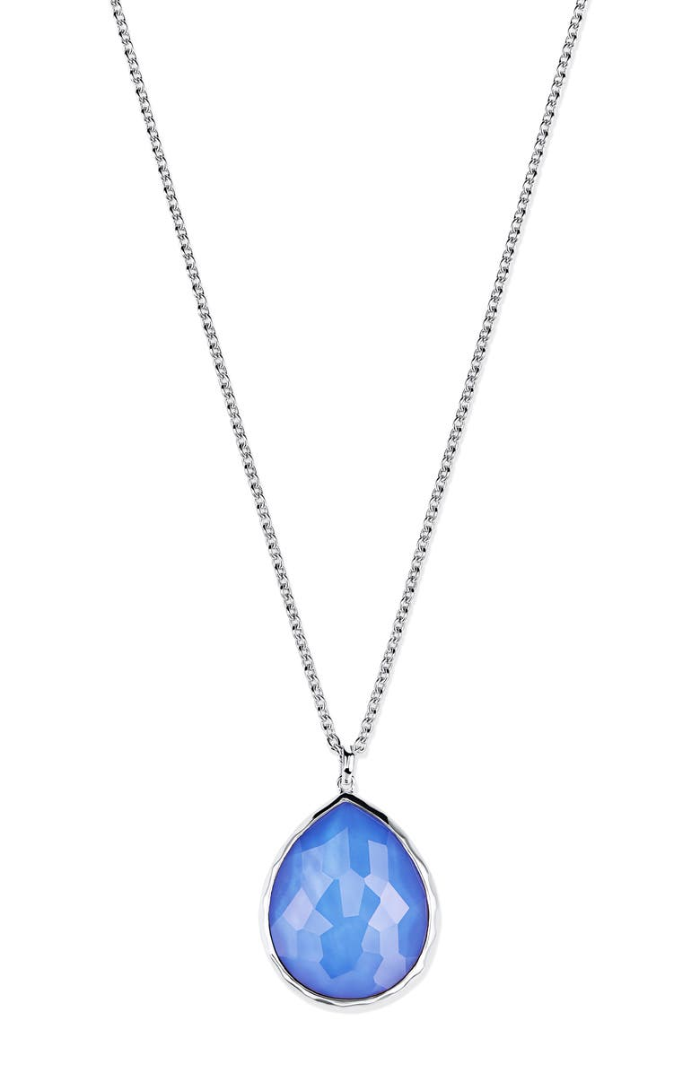 IPPOLITA 'Wonderland' Large Teardrop Pendant Necklace, Main, color, NORDIC