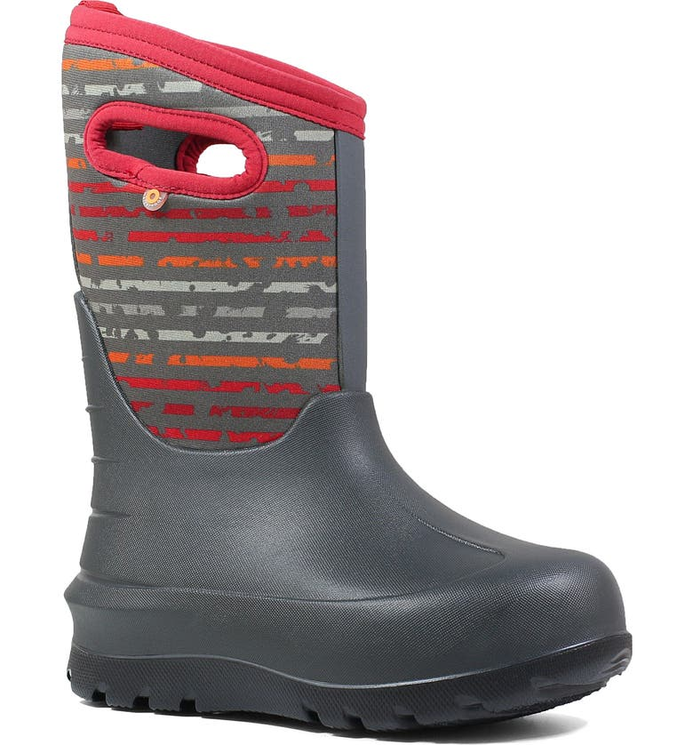 BOGS Neo-Classic Insulated Waterproof Boot, Main, color, DARK GRAY MULTI
