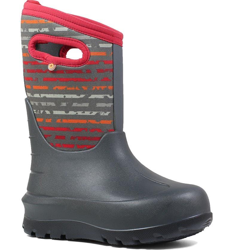 BOGS Neo-Classic Insulated Waterproof Boot, Main, color, DARK GRAY MULTI