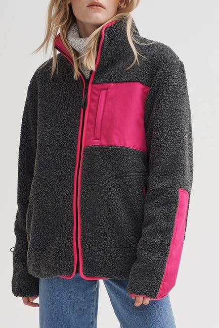 Image of NOIZE Candace Sherpa Reversible Coat