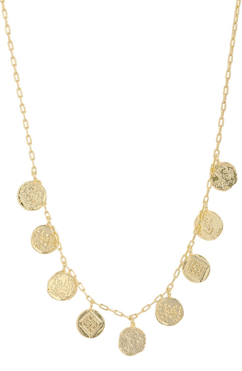 GORJANA Ana Coin Necklace, Main, color, GOLD