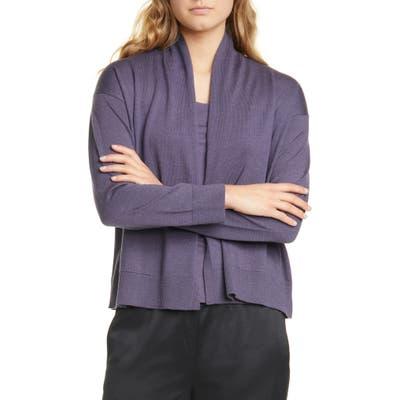 Eileen Fisher Extra Fine Merino Wool Cardigan, Blue