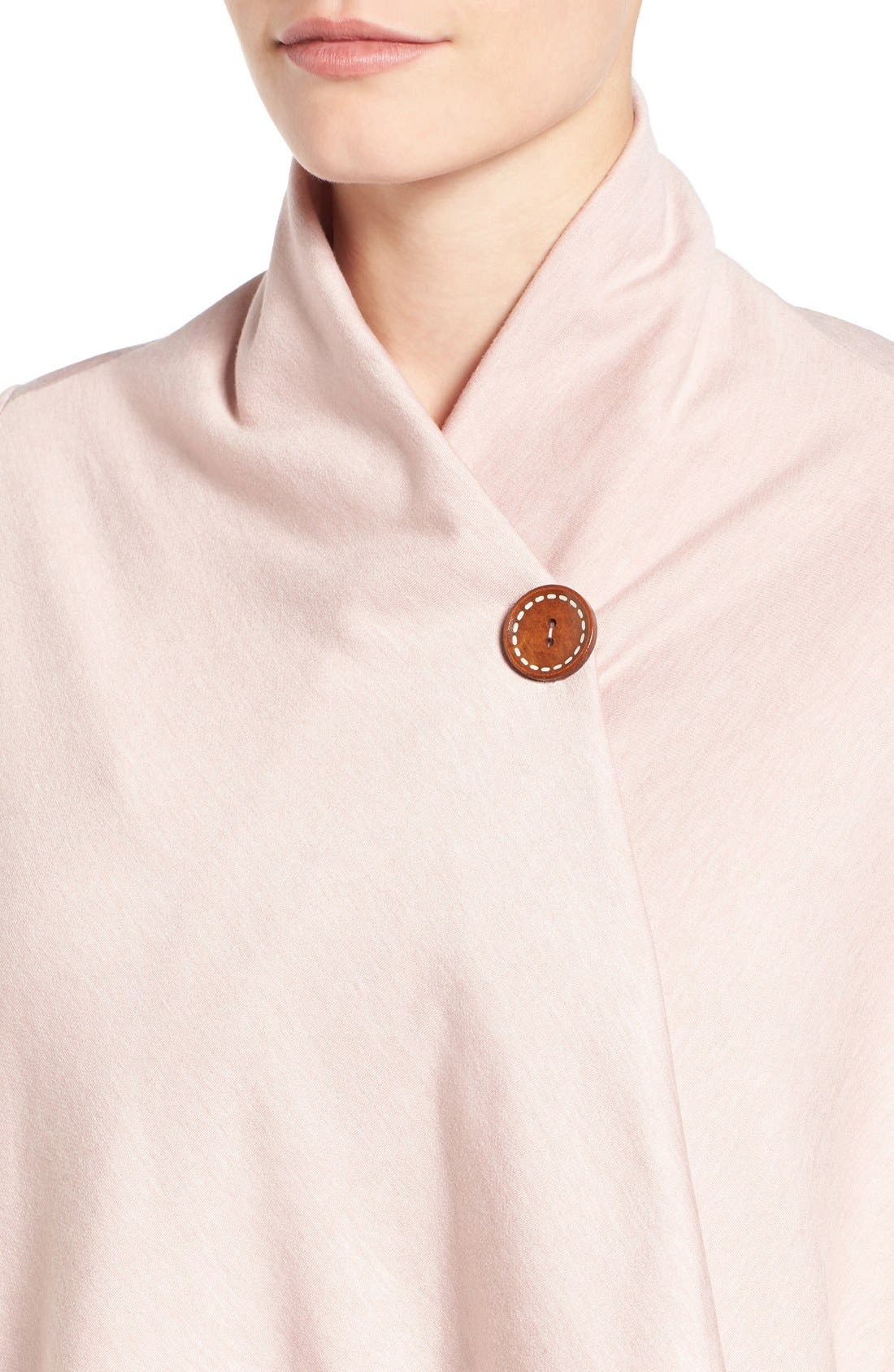 ,                             One-Button Fleece Wrap Cardigan,                             Alternate thumbnail 220, color,                             698