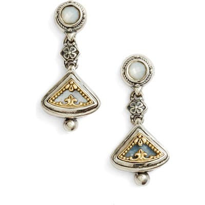 Konstantino Etched Sterling Silver & Gold Drop Earrings