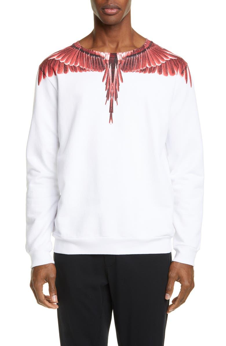 Marcelo Burlon Red Ghost Wings Graphic Sweatshirt