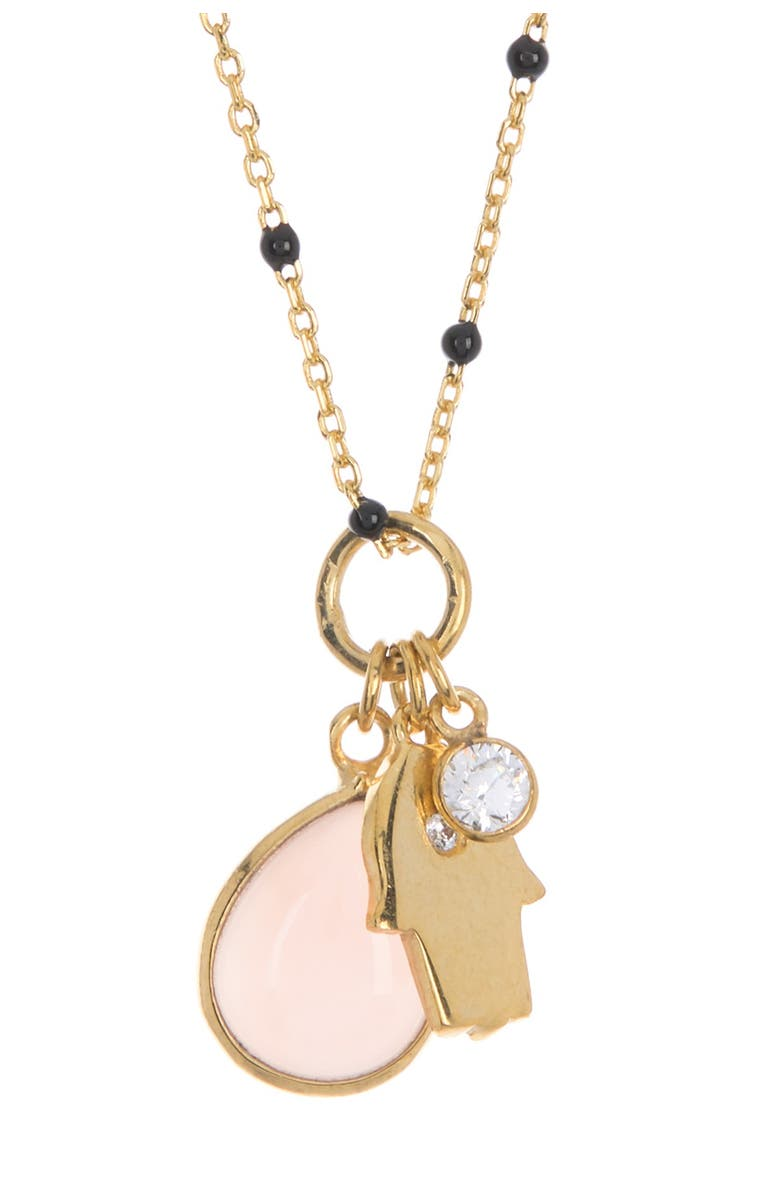 Argento Vivo 18K Gold Plated Sterling Silver Charm Pendant Necklace