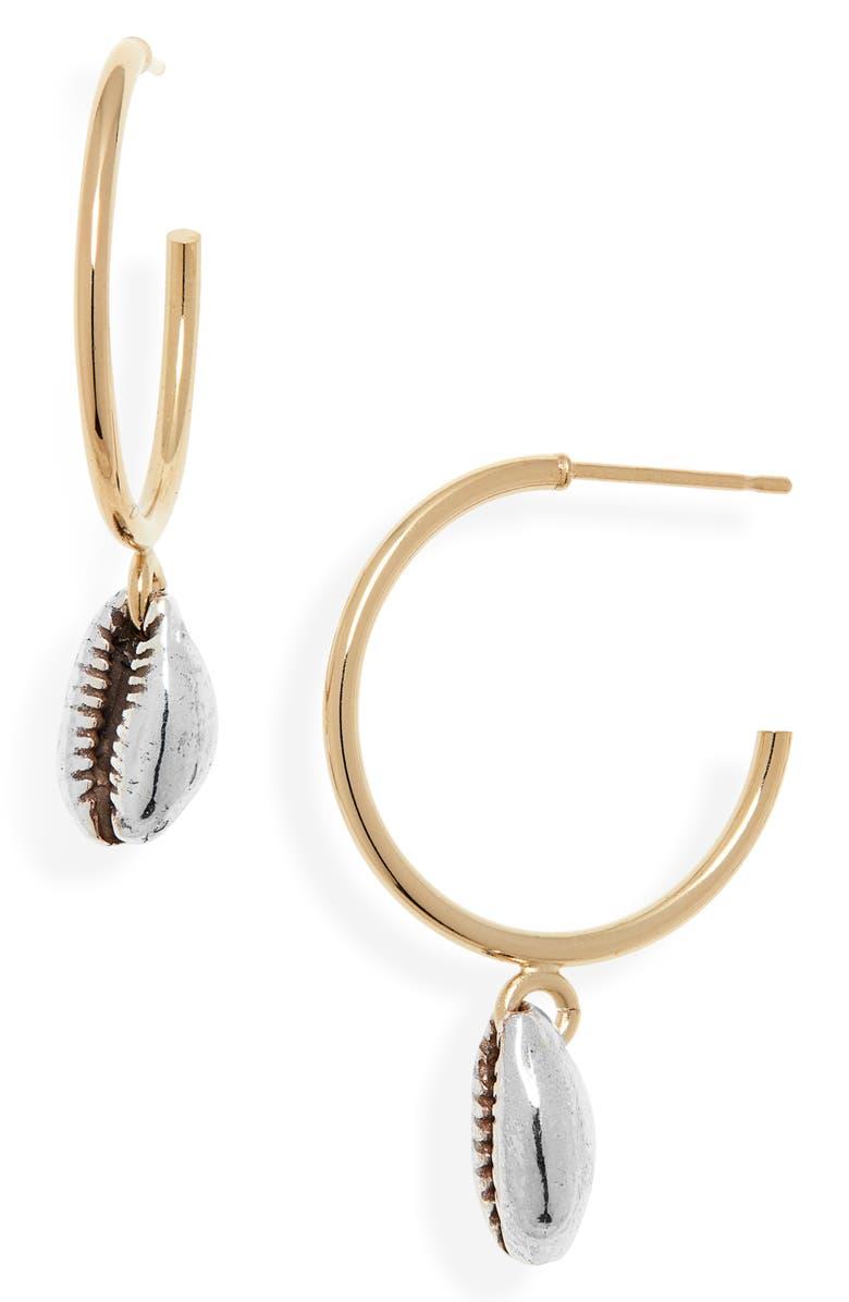 ISABEL MARANT Amer Hoop Earrings, Main, color, SILVER