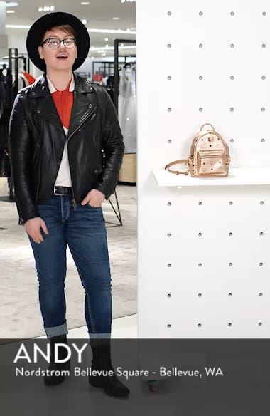 X-Mini Stark Side Stud Coated Canvas Backpack, sales video thumbnail