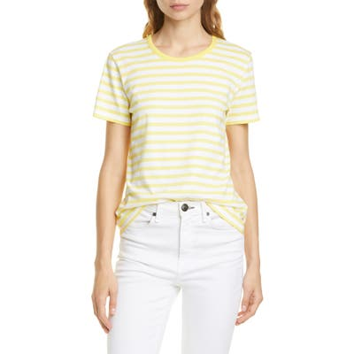 La Ligne Regular Stripe Cotton Tee, White