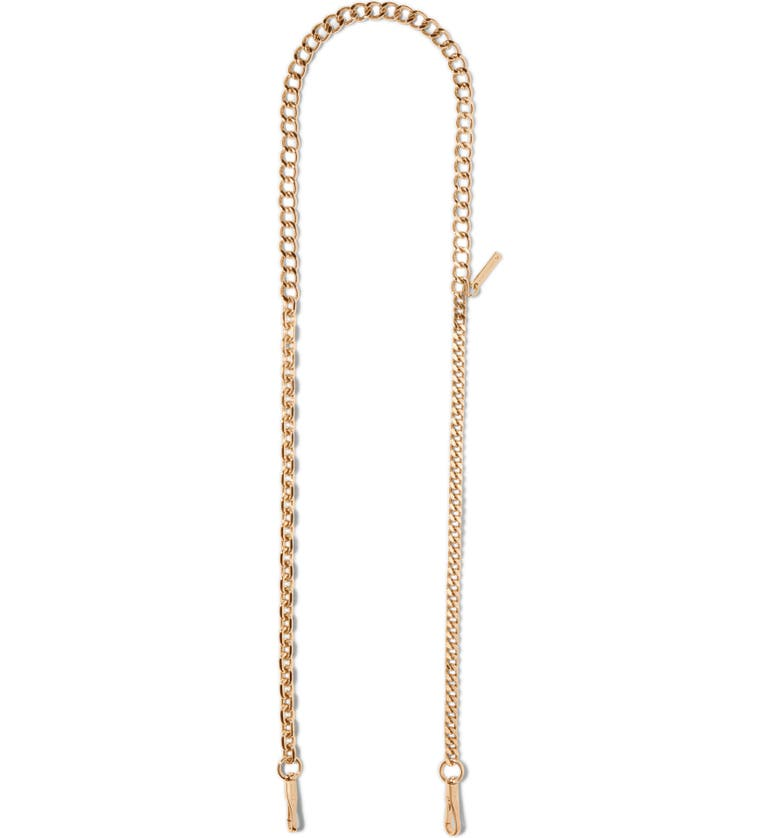 THE MARC JACOBS Chain Guitar Bag Strap, Main, color, GOLD