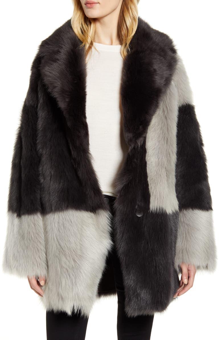 HISO Reversible Genuine Shearling Coat, Main, color, COLORBLOCK