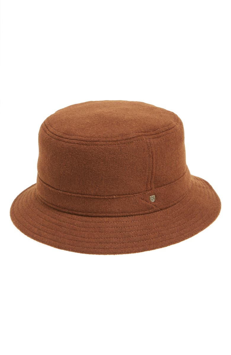 BRIXTON Burroughs Wool Blend Bucket Hat, Main, color, 200