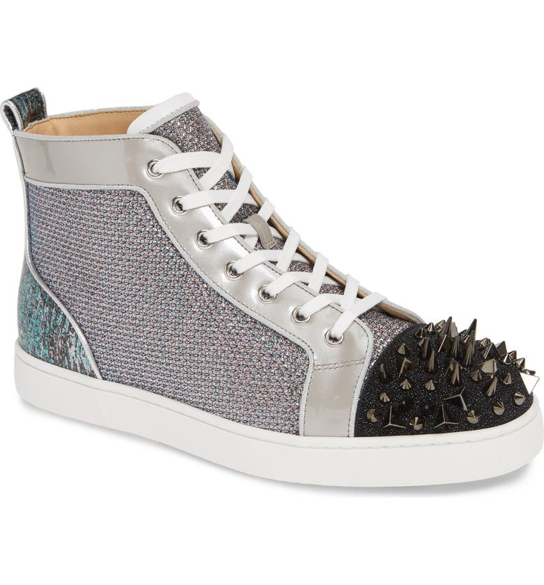 Louis Orlato Crystal High Top Sneaker by Christian Louboutin