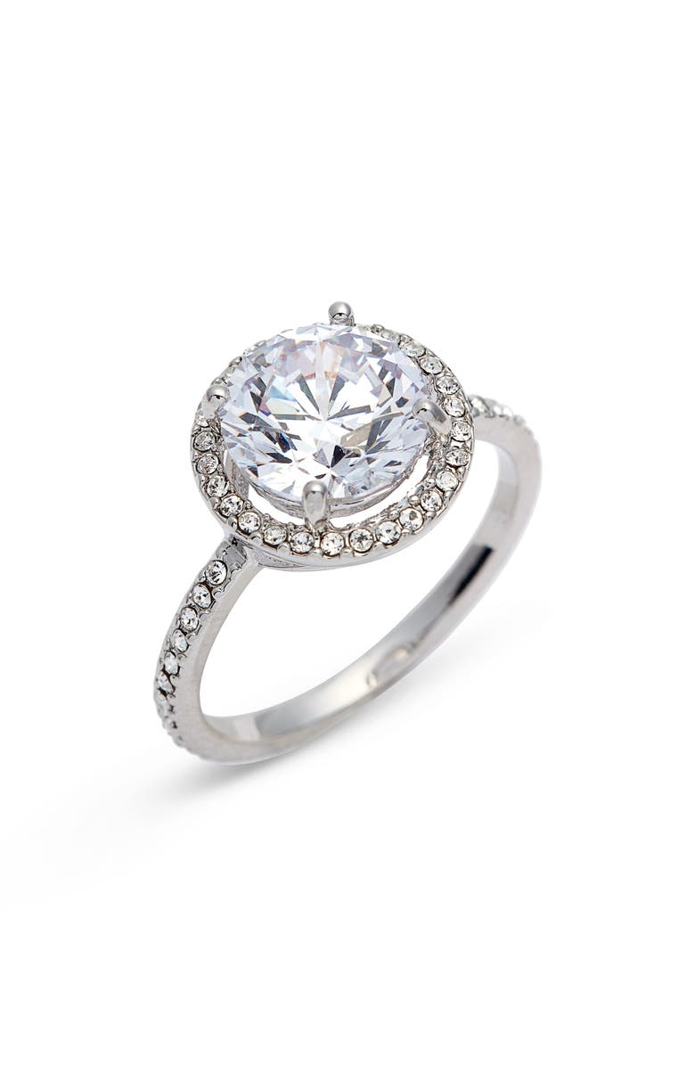Pav Solitaire Ring