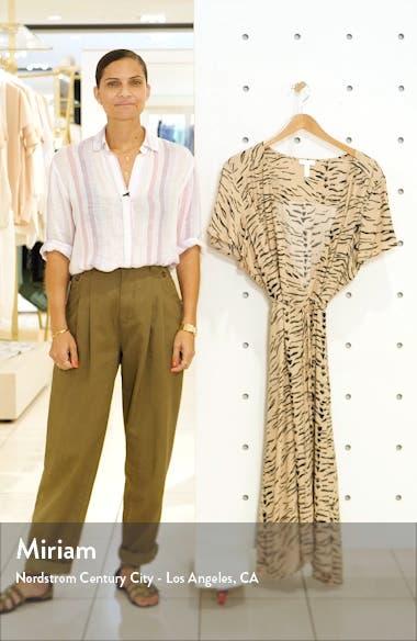 Print Flutter Sleeve Wrap Dress, sales video thumbnail