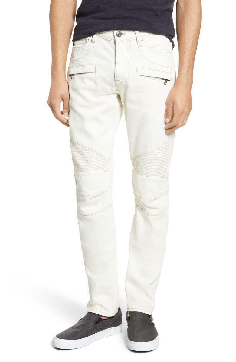HUDSON JEANS Blinder Skinny Fit Biker Jeans, Main, color, BARELY BLUE