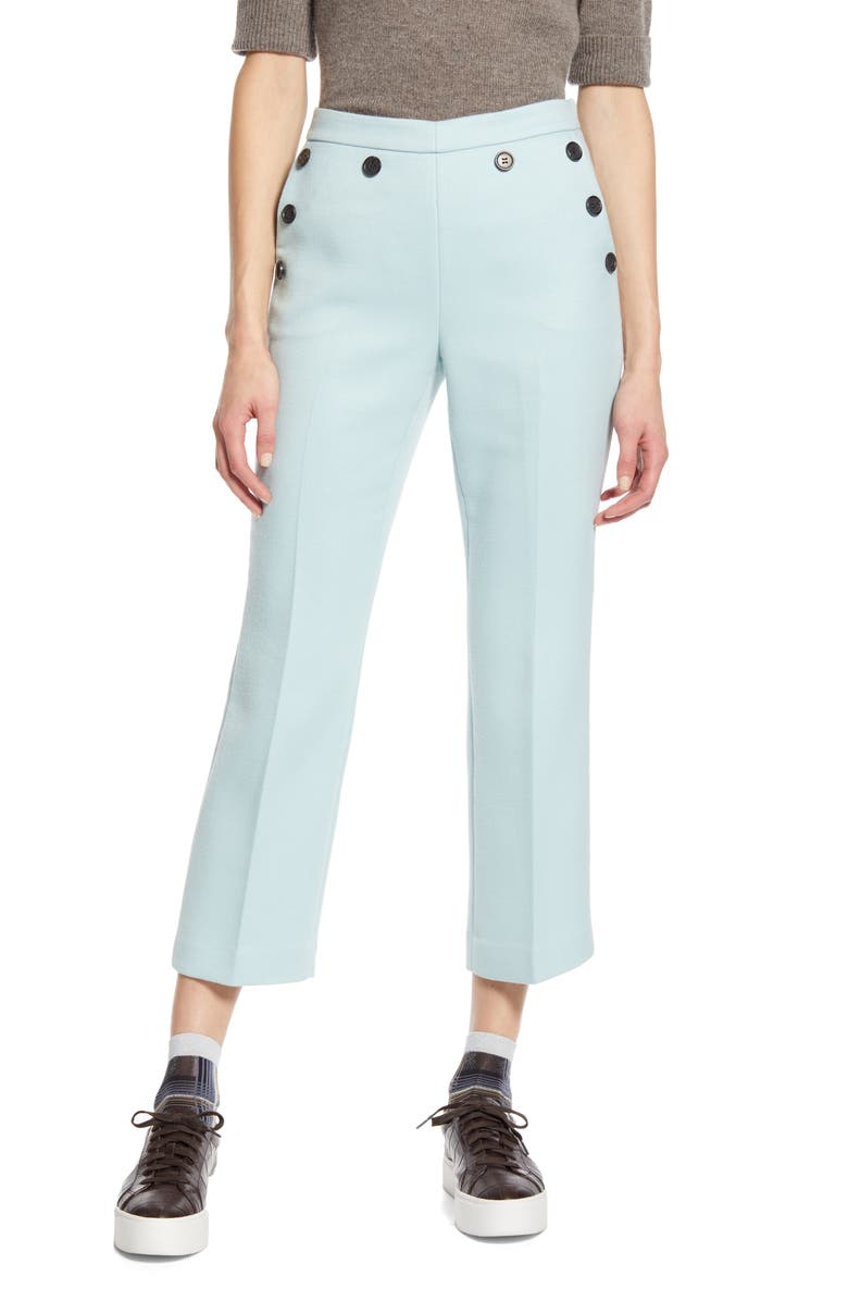 HALOGEN<SUP>®</SUP> x Atlantic-Pacific Button Detail Kick Flair Pants, Main, color, 450