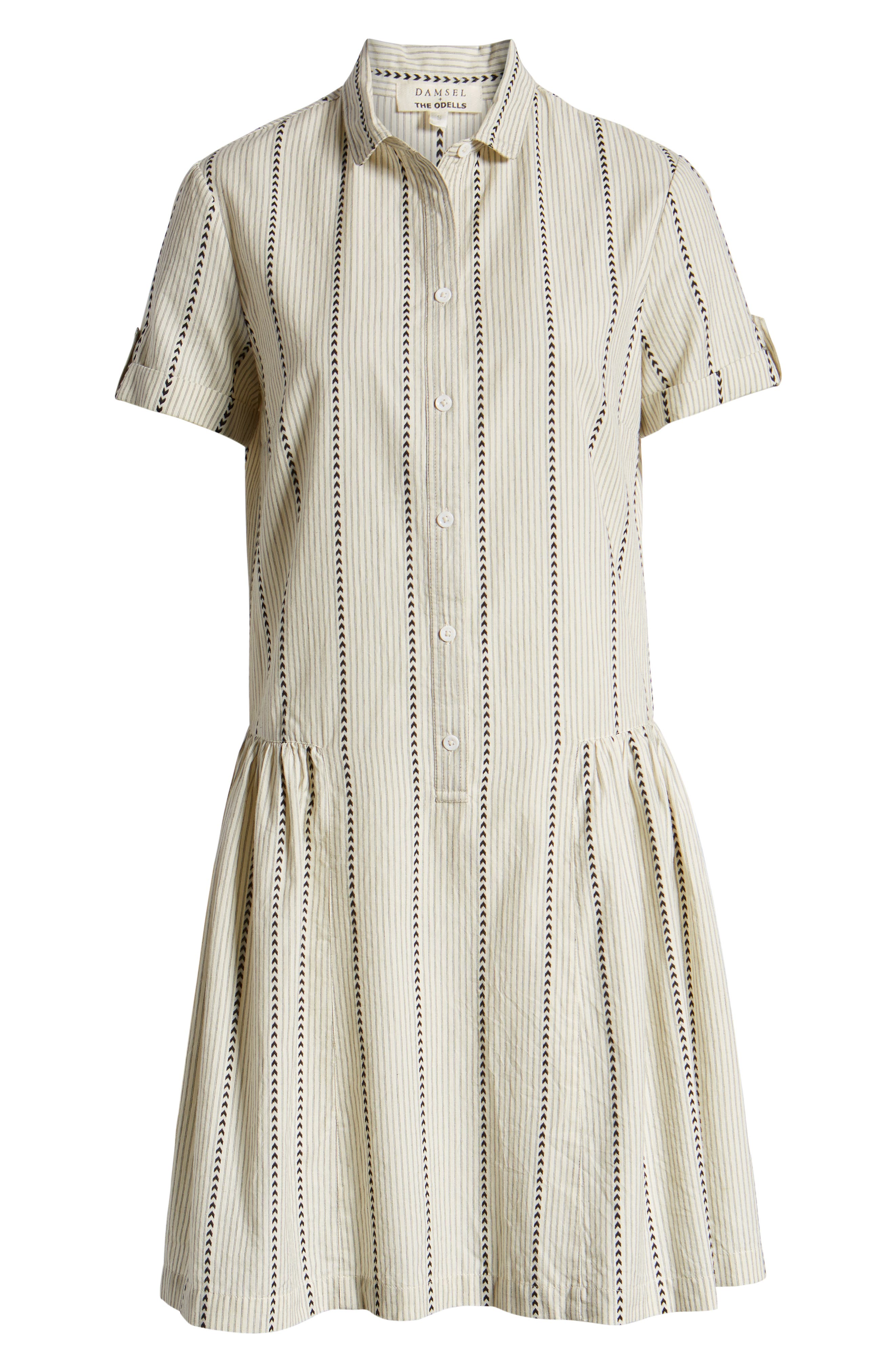 ,                             Damsel x THE ODELLS Easy Button-Up Cotton Dress,                             Alternate thumbnail 7, color,                             250