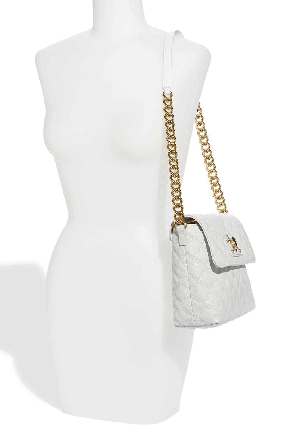 ,                             'Large Quilting Single' Leather Shoulder Bag,                             Alternate thumbnail 21, color,                             100
