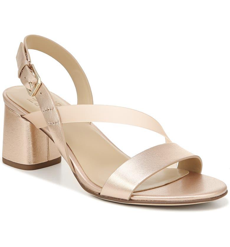 NATURALIZER Arianna Block Heel Sandal, Main, color, ROSE GOLD LEATHER