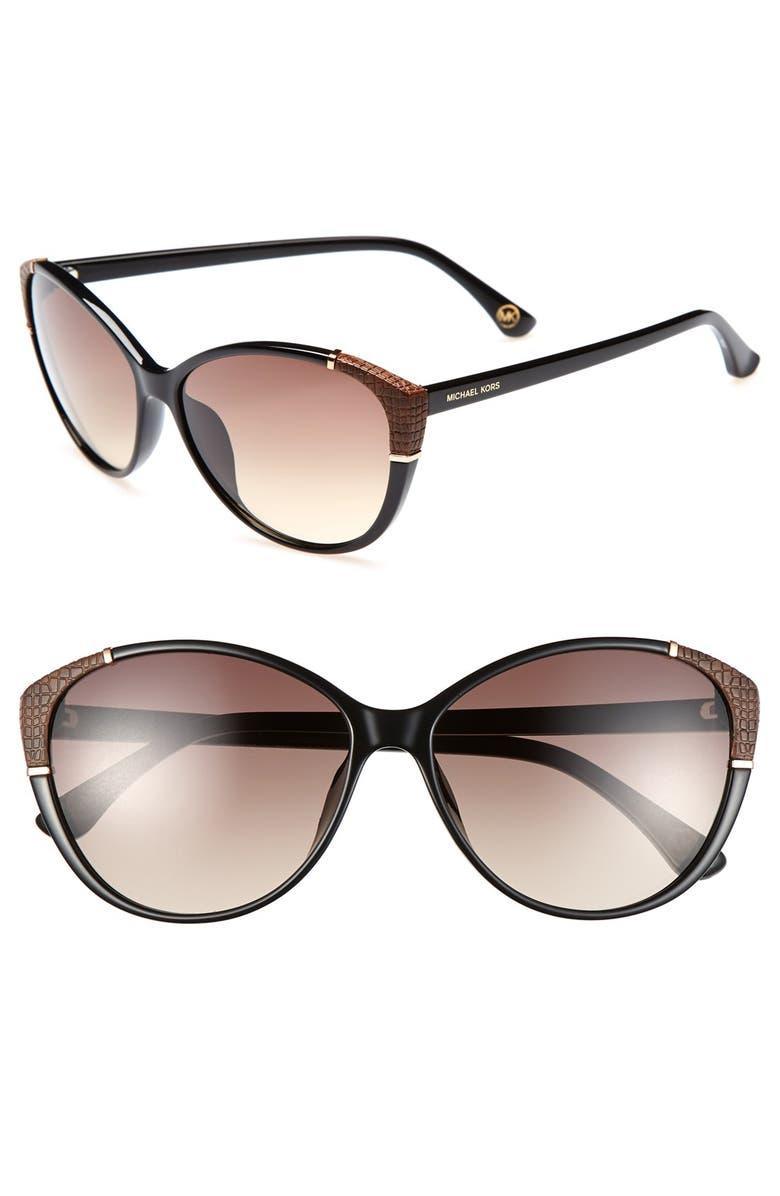 MICHAEL MICHAEL KORS 'Paige' 58mm Sunglasses, Main, color, 001