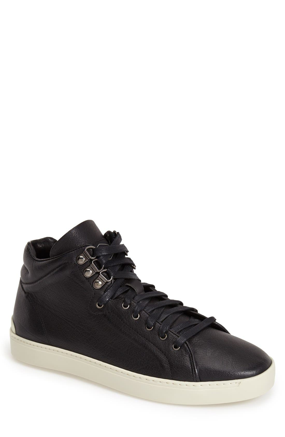 'Kent' Leather High Top Sneaker, Main, color, 001