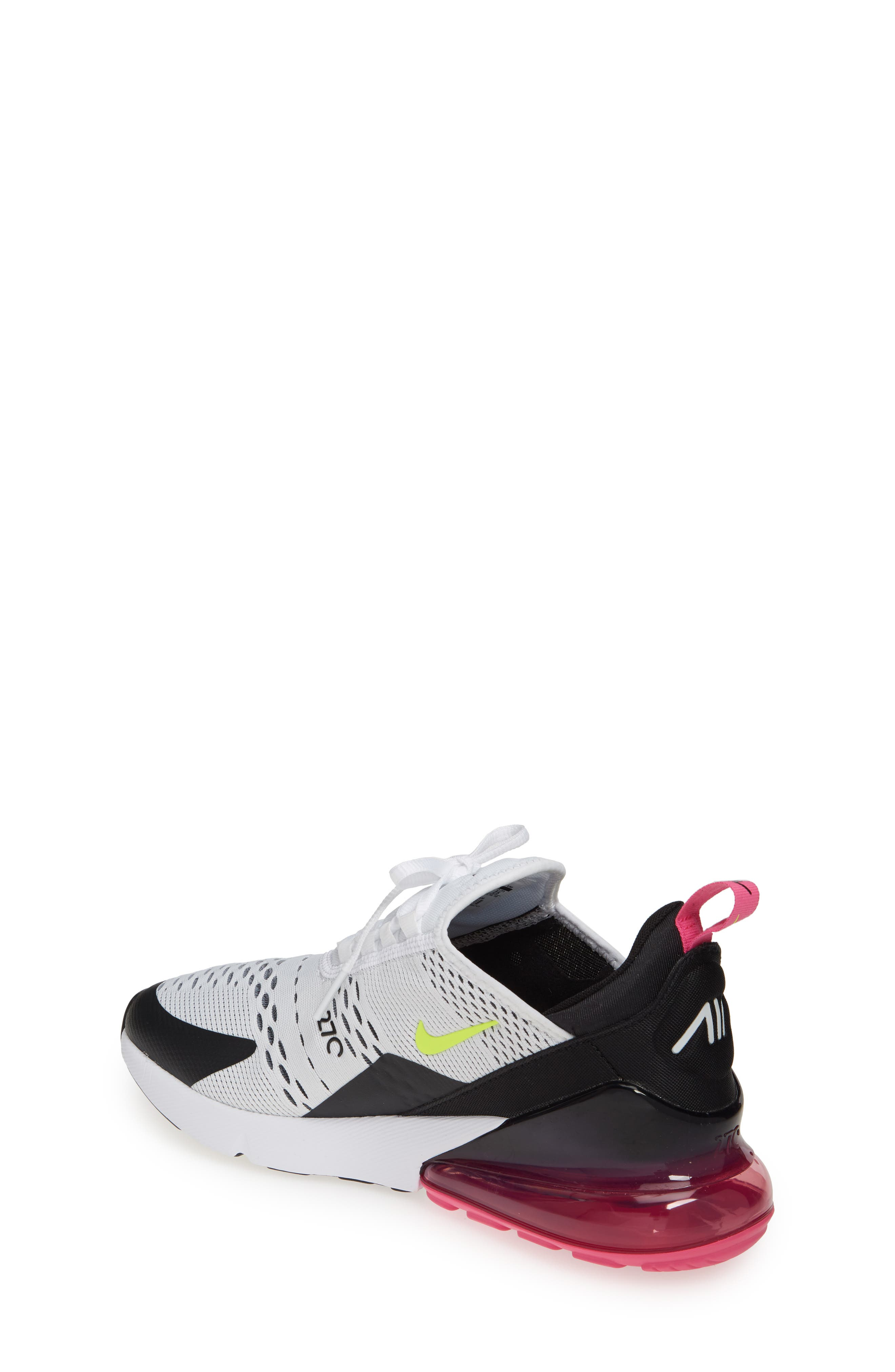 ,                             Air Max 270 Sneaker,                             Alternate thumbnail 2, color,                             WHITE/ VOLT-BLACK-FUCHSIA