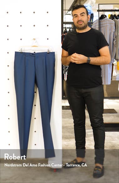 Classic Fit Solid Wool & Mohair Trousers, sales video thumbnail