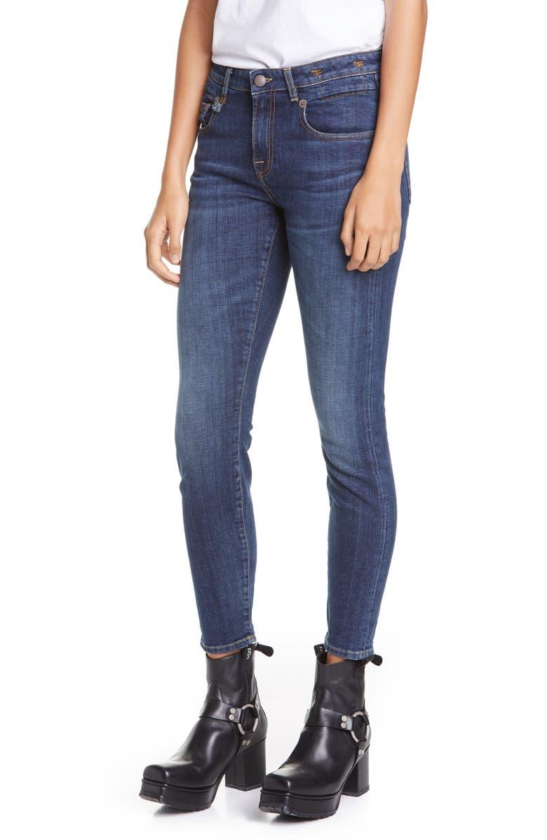 R13 Boy Skinny Jeans, Main, color, NORTEN INDIGO