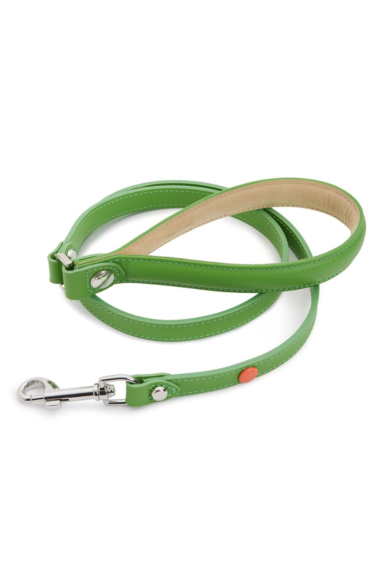 LONGCHAMP x Clo'é Floirat Leather Dog Leash, Main, color, 300