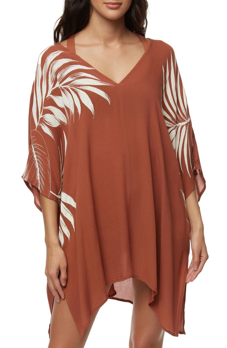 O'NEILL Tessa Cover-up Caftan, Main, color, COCONUT SHELL