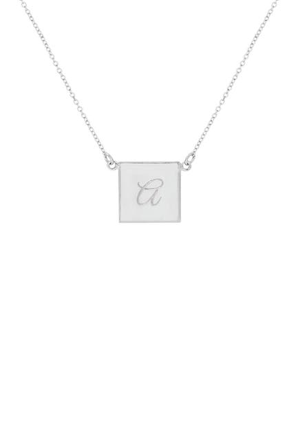 Image of Savvy Cie Sterling Silver Initial Necklace - Multiple Letters Available