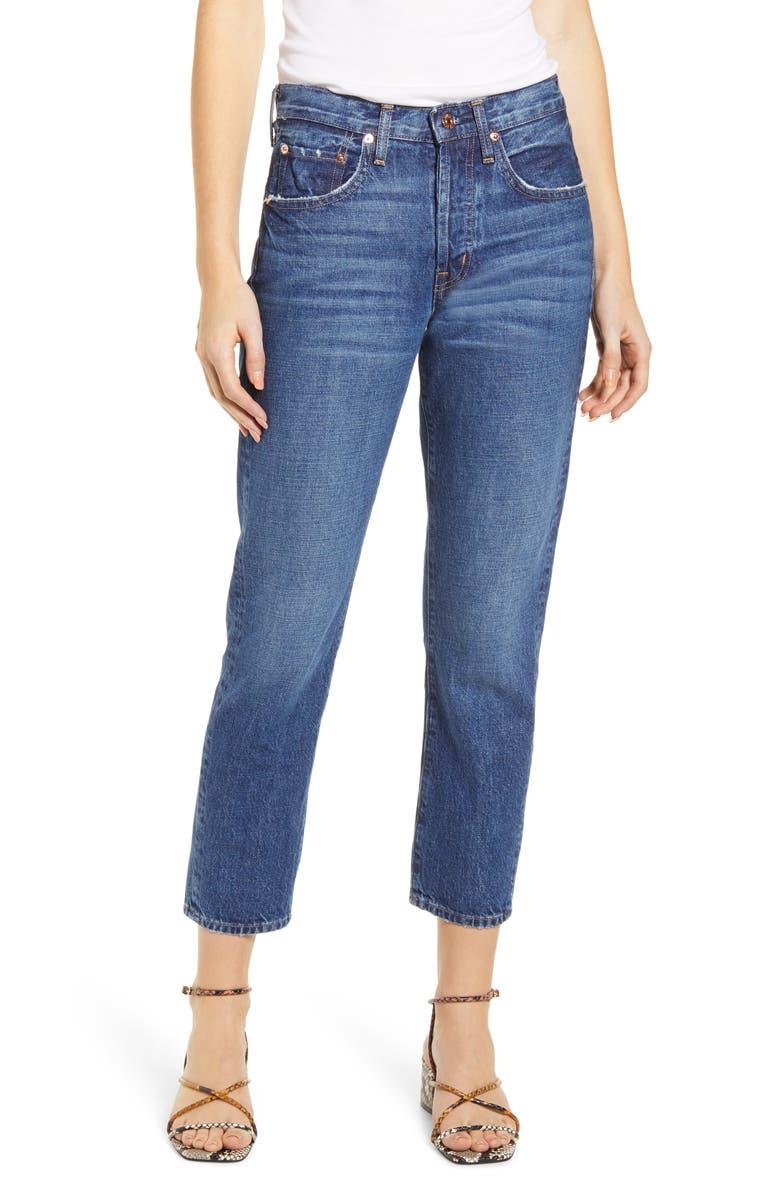 EDWIN Hana Nonstretch High Waist Crop Jeans, Main, color, 462
