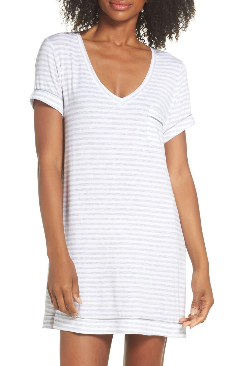 NORDSTROM LINGERIE Moonlight Sleep Shirt, Main, color, 021