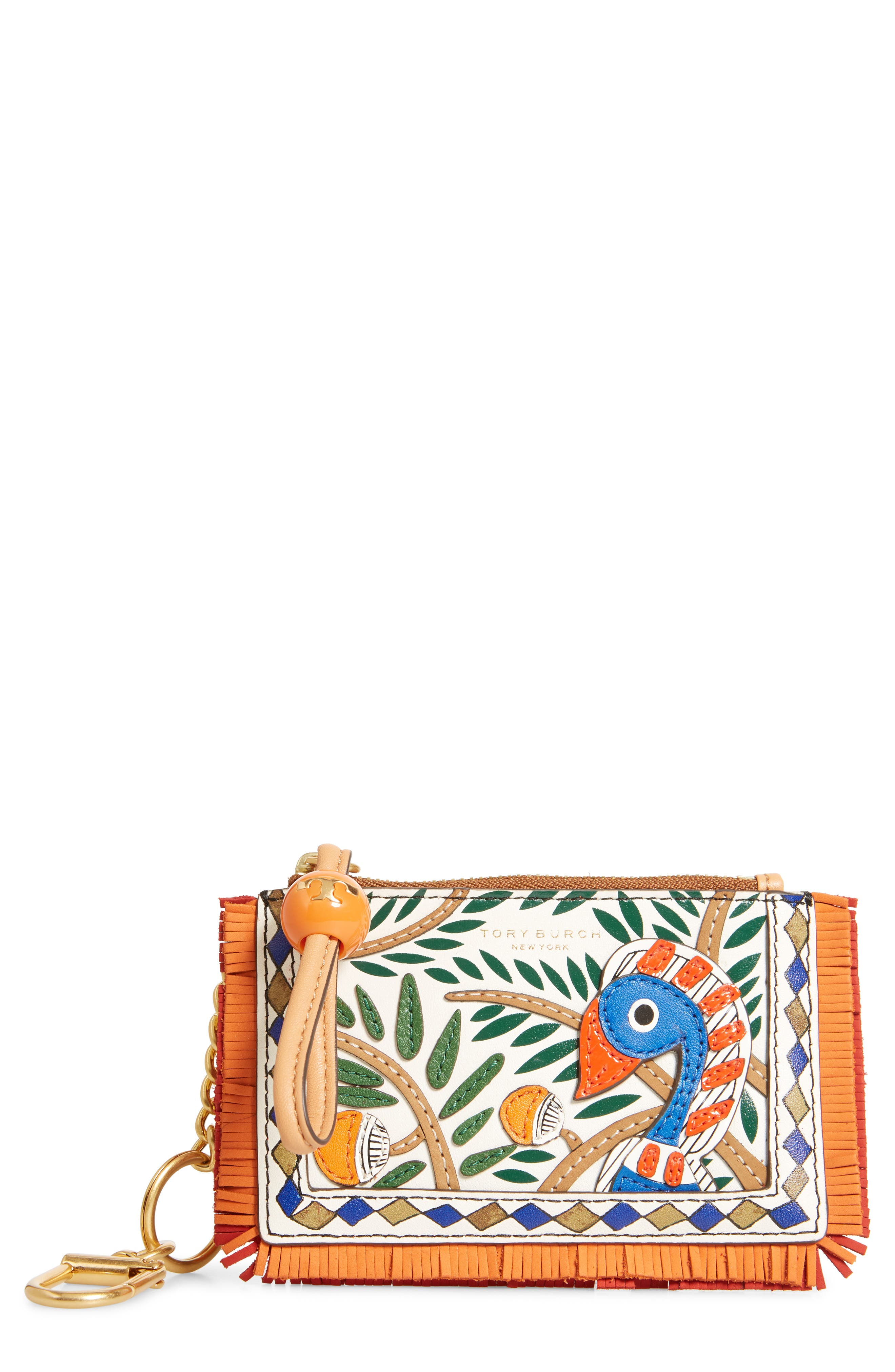 ,                             Print Zip Leather Card Case,                             Main thumbnail 1, color,                             800