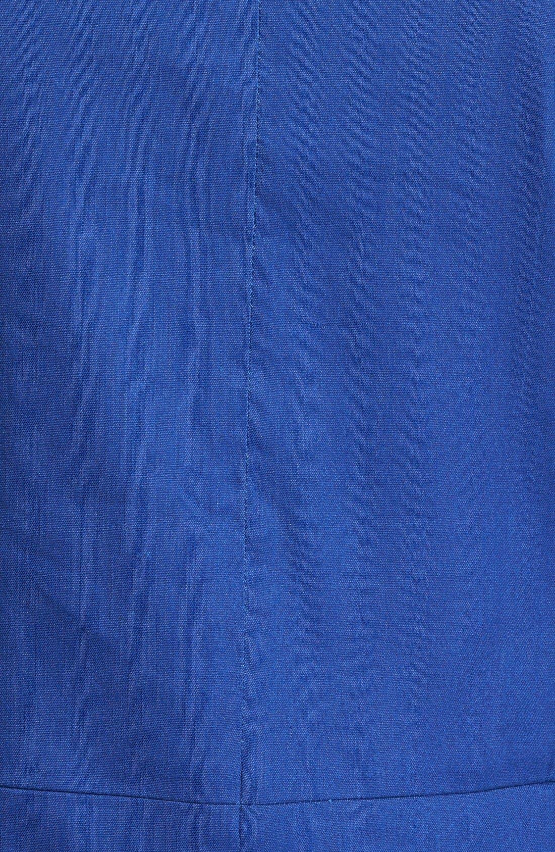 ,                             Seamed Back Linen Blend Blazer,                             Alternate thumbnail 9, color,                             401