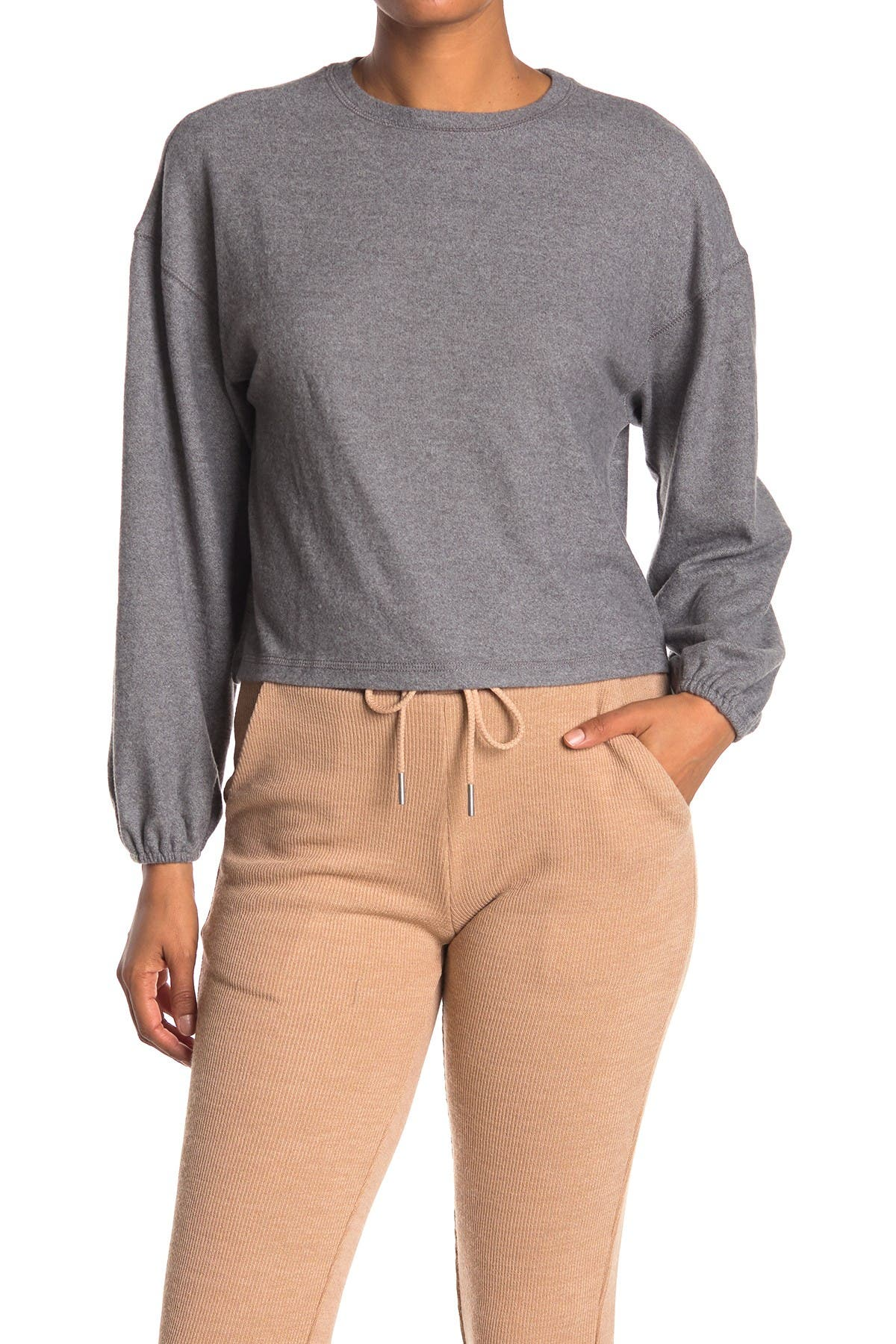 Image of Elodie Brushed Knit Long Sleeve Top