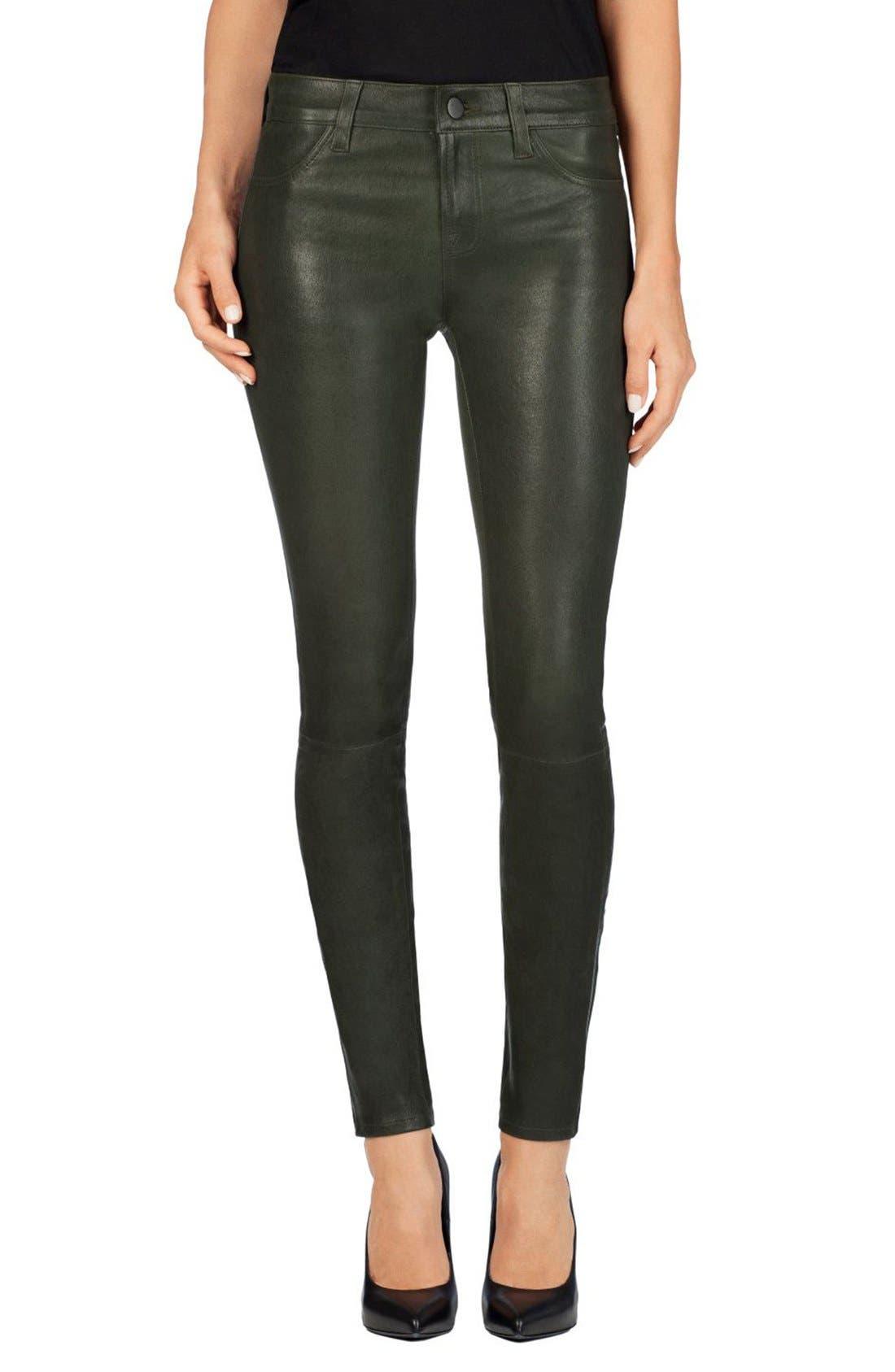 ,                             '8001' Lambskin Leather Pants,                             Main thumbnail 55, color,                             306