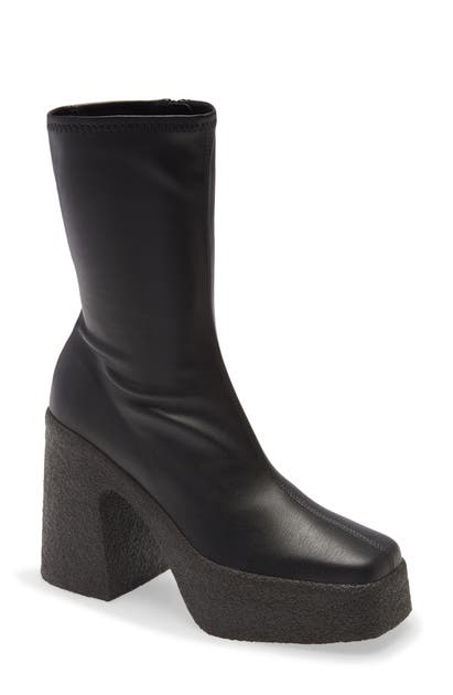 Stella Mccartney SQUARE TOE PLATFORM BOOTIE