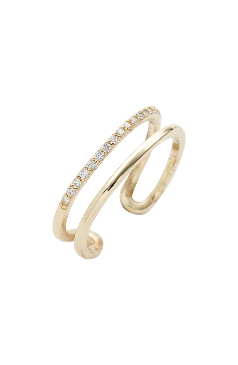 LISA FREEDE Brooke Adjustable Ring, Main, color, YELLOW GOLD